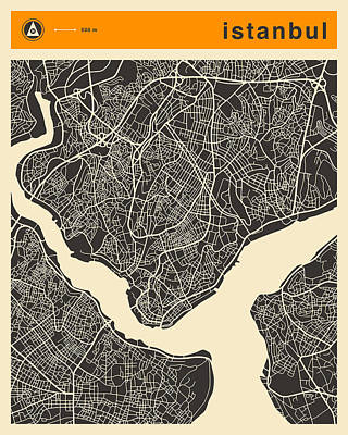 Istanbul Map Poster