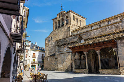 Jaca, Spain.  Romanesque Cathedral Poster