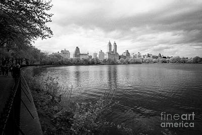 Jacqueline Kennedy Onassis Reservoir Central Park With Views Of Upper West Side Apartment Buildings  Poster