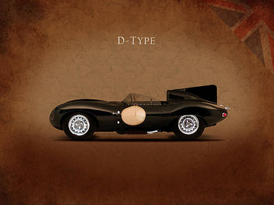 Jaguar D Type Poster by Mark Rogan