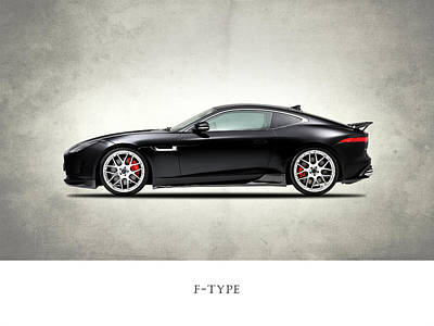 Jaguar F Type Poster by Mark Rogan