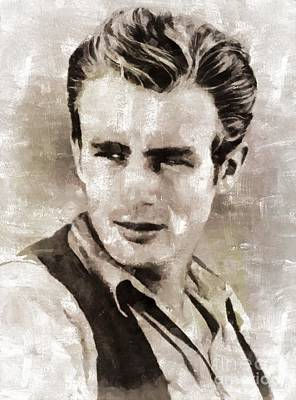 James Dean Hollywood Legend Poster by Mary Bassett