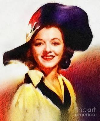 Janet Gaynor, Vintage Hollywood Actress Poster by John Springfield