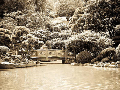 Japanese Hill And Pond Garden New York Poster