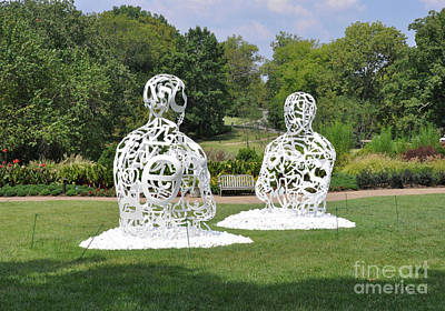 Jaume Plensa - The Soul Of Words I And II Poster by Wanda-Lynn Searles