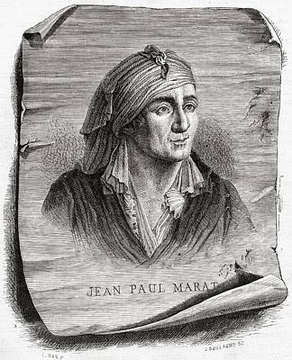 Jean-paul Marat,1743-1793. French Poster by Vintage Design Pics