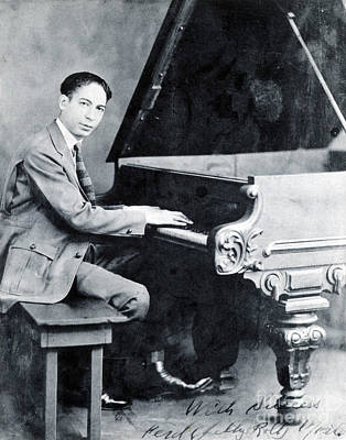 Jelly Roll Morton, American Jazz Poster by Science Source