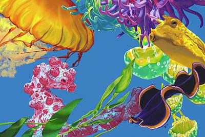 Jelly Undulations Poster by Jennifer Brewer Stone