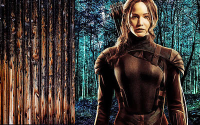 Jennifer Lawrence Collection Poster by Marvin Blaine