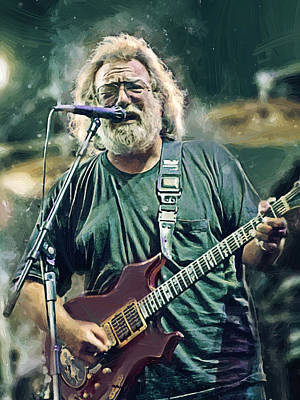 Jerry Garcia  Poster by Afterdarkness