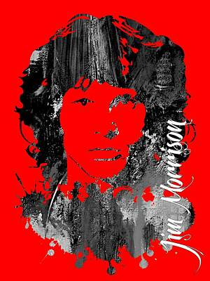Jim Morrison Collecton Poster by Marvin Blaine