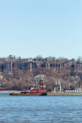 Joan Moran Tugboat On The Hudson River Poster