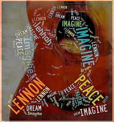 John Lennon Poster by Allen Beilschmidt