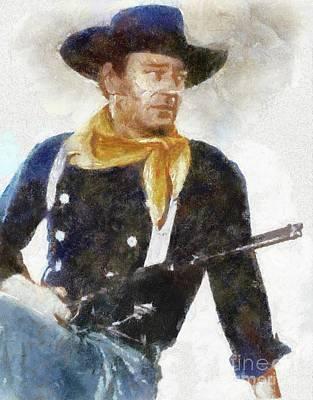 John Wayne By Sarah Kirk Poster