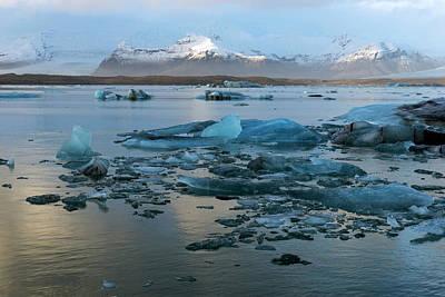 Poster featuring the photograph Jokulsarlon, The Glacier Lagoon, Iceland 5 by Dubi Roman