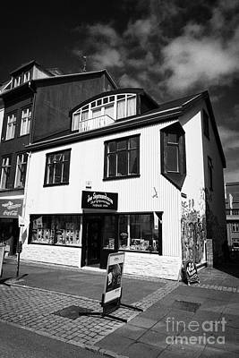 Jon Sigmundsson Laugavegur Main Pedestrian Shopping Street Reykjavik Iceland Poster