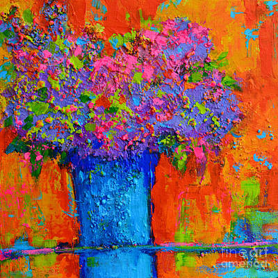Joyful Perfection - Modern Impressionist Art - Palette Knife Work Poster by Patricia Awapara