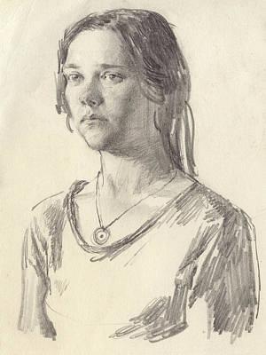 Julia Poster by Victoria Kharchenko