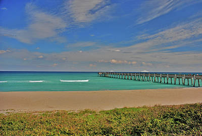 Poster featuring the photograph 1- Juno Beach Pier by Joseph Keane