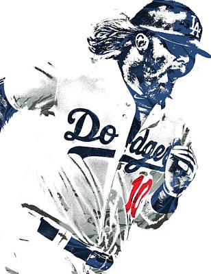 Justin Turner Los Angeles Dodgers Pixel Art Poster by Joe Hamilton
