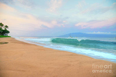 Poster featuring the photograph Ka'anapali Waves by Kelly Wade