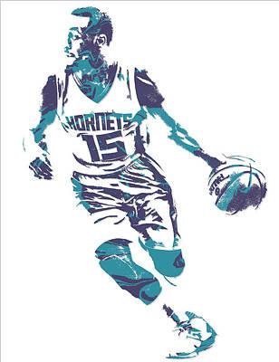 Kemba Walker Charlotte Hornets Pixel Art 5 Poster