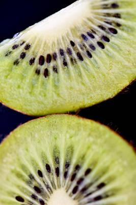 Kiwi Fruit Macro Poster