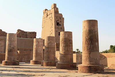 Poster featuring the photograph Kom Ombo by Silvia Bruno