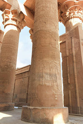 Poster featuring the photograph Kom Ombo Temple by Silvia Bruno