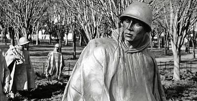 Korean War Memorial In Washington Dc Poster