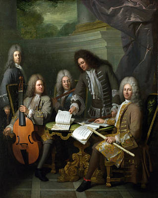 La Barre And Other Musicians Poster by Celestial Images