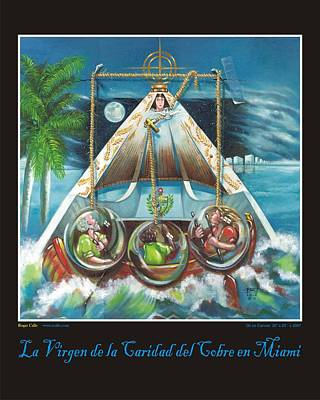 La Virgen De La Caridad Del Cobre En Miami Poster