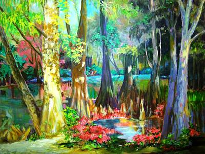 Poster featuring the painting Lake Arthur Swamp by AnnE Dentler