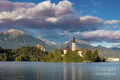 Poster featuring the photograph Lake Bled Evening by Brian Jannsen