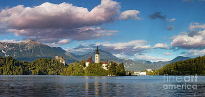 Poster featuring the photograph Lake Bled Panoramic by Brian Jannsen