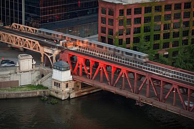 Lake Street Crossing Chicago River Poster by Steve Gadomski