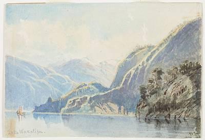 Lake Wakatipu 1866 By Nicholas Chevalier Poster