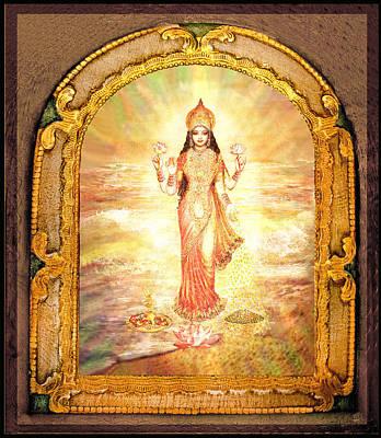 Lakshmis Birth From The Milk Ocean Poster