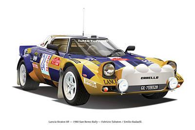 Lancia Stratos Hf Poster