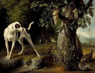 Landscape With A Dog And Partridges Poster