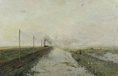 Landscape With A Train Poster by Paul Gabriel