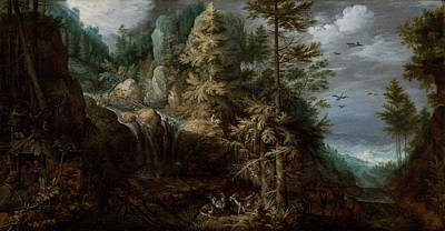 Landscape With The Temptation Of Saint Anthony Poster