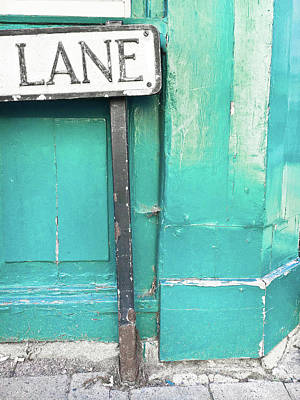 Lane Sign Poster by Tom Gowanlock