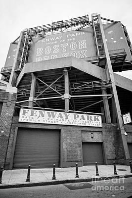 lansdowne street entrance to Fenway park baseball stadium Boston USA Poster