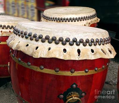 Large Chinese Drums Poster by Yali Shi