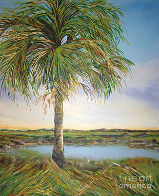 Large Palm Poster by Michele Hollister - for Nancy Asbell