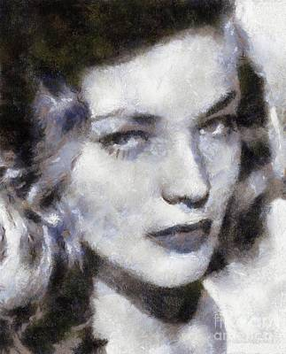 Lauren Bacall By Sarah Kirk Poster