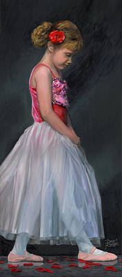 Poster featuring the painting Lauren Grace by Doug Kreuger