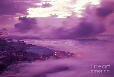 Lava At Dawn Poster by Ron Dahlquist - Printscapes