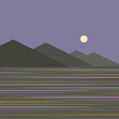 Poster featuring the digital art Lavender Sky  Reflections by Val Arie